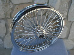 21x3.5 Fat 48 King Spoke 08-up Abs Front Wheel Harley Flt Touring Baggers