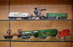 Group of 7 American Flyer O Gauge Experimental Freight Cars Borden Cannon etc.