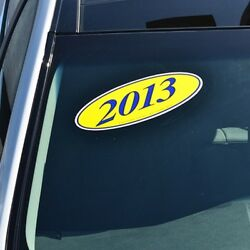 Car Lot Windshield Oval Model Year Stickers 20 Packs Blue And Yellow