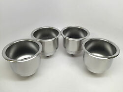 4 Pcs Ss Cup Drink Holder Marine Boat Rv Camper Truck High Quality
