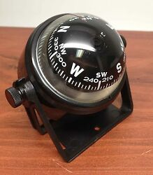 Pactrademarine Boat Sport 2.25 D Compass With Black Bracket Visible Luber Line