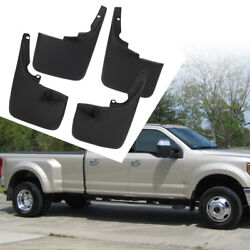 Fits 11-16 Ford F250 F350 Superduty Wo Fender Flares Mud Flaps Guards 4PCS Set