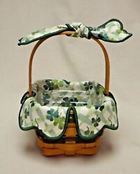Longaberger 1999 St. Patrickand039s Day Lots Of Luck Basket With Liner And Protector