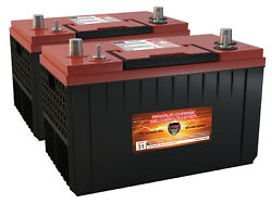 (2)VMAX XCA31-1400 AGM 1400MCA gp 31 MARINE OUTBOARD GAS POWERED MOTOR batteries