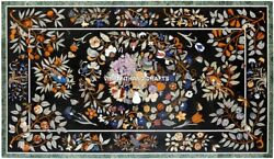 Marble Center Table Top Adorable Inlaid Furniture Art Floral Birds Design H3870