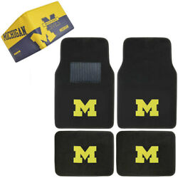 Ncaa Michigan Wolverines Car Truck Carpet Floor Mats And Synthetic Leather Wallet