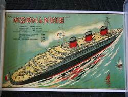 Cgt French Line Normandie Mini Poster