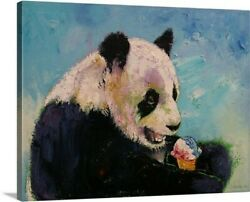 Canvas On Demand Giant Panda Ice Cream by Michael Creese Graphic Art on Canvas