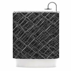 East Urban Home 'Urban Metal Links' Photography Shower Curtain