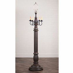 Irvin's Country Tinware General James Floor Lamp Base In Americana Espresso New