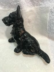 Vintage Cast Iron Scottie Dog Door Stop Scotty Terrier