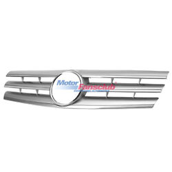 Front Silver CL-Style Grill Grille for Mercedes Benz SL Class W129 R129 90-2002