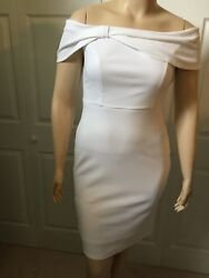 WESLEE ROSE Women#x27;s Evening White Off Shoulder Sleeveless Dress Medium M 8 $19.99
