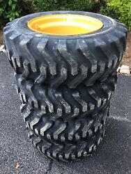 4 New Camso Sks332 10x16.5 Skid Steer Tires And Rims For Case 1840 1838 - 6 Lug