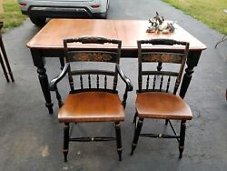Hitchcock Dining Table And Chairs