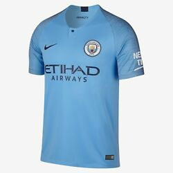 Youth 2018/19 Manchester City Football Club Home Stadium Jersey Soccer X-large