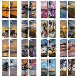 Celebrate Life Gallery Beaches Leather Book Wallet Case For Apple Iphone Phones