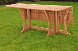 9-piece Outdoor Teak Dining Set 69 Console/folding Table 8 Arm Chairs Osbo