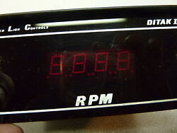 Vintage Red Lion Controls Ditak Ii Four Digit Rpm Counter Display Usa
