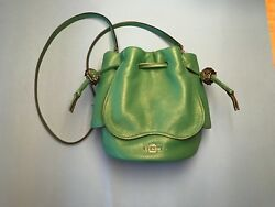 LIMITED EDITION COACH GREEN PEBBLE LEATHER SHOULDERCROSSBODY BUCKET BAG