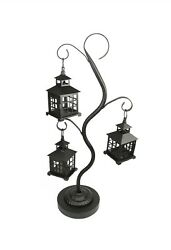 Tea Light Decorative Lantern Tree Holder Swirled Style Elegant Sleek Home Decor
