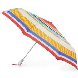 Totes 8709 X-Large Auto Open Close SunGuard NeverWet Umbrella Pulsating Stripe