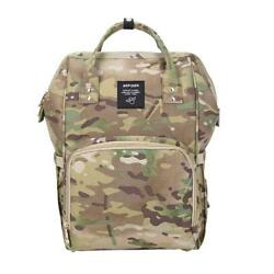 Gizwise Camo Backpack Diaper Bag for Women Men Insulated Toddler Travel with...