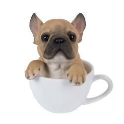 French Bulldog Teacup Puppy Dog Collectible Figurine Miniature 5.5