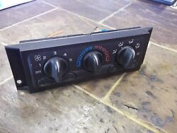 01 02 03 04 05 Chevy Venture Heater AC Climate Temp Control 01-04 SILHOUETTE