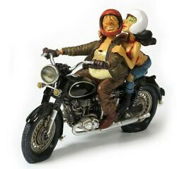 Exciting Motor Ride Guillermo Forchino Caricature Figurine Miniature 10l New