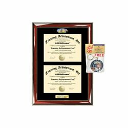 Double Diploma Frame UCLA University of California Los Angeles Dual Degree...