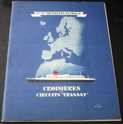 Cgt French Line Cruise Brochure Transat Tours 1937