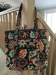 Vera Bradley Disney Tote Midnight With Mickey Parks Exclusive Bag $180.00