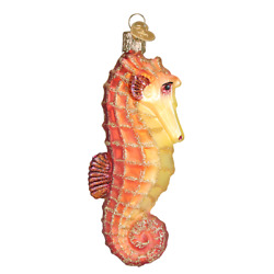 Seahorse Red Glass Christmas Ornament By Old World Christmas