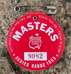 1963 Used Masters Golf Badgecollectors Itemvery Very Rare Ticketjack Nicklaus