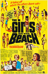The Girls On The Beach - 1965 - Movie Poster