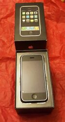 Rare Collectable Apple Iphone 1st Gen - 8gb - Black With Matching Box.