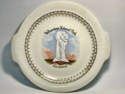 Enco Views Of America Yellowstone National Park Collecter 11 1/8andrdquo Serving Plate