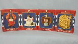 American Greetings Lot Of 4 Military Theme Ornaments
