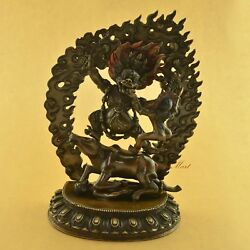 Fine Quality Oxidized Copper Alloy 11 Yama Or Yamraj Statue From Patan Nepal