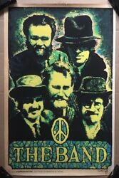The Band Original Vintage Blacklight Poster 1970 Psychedelic Music Pinup Beeghly