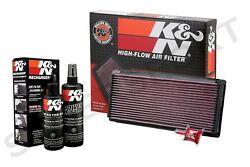 K&N 33-2023 Hi-Flow Air Intake Drop in Filter + 99-5050 Recharger Cleaning Kit