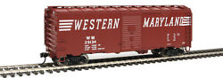 Walthers Mainline 1774 40and039 1948 Boxcar Western Maryland 29134 Rtr Ho Mib