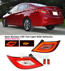 For 2012-2017 Hyundai Accent Sedan Rear Tail Lights Led Style Lamps Assembly