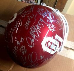 2008 Authentic Deluxe Replica Riddell Full Size Team Signed Ou Helmet