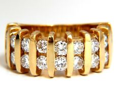 1.80 Natural Round Diamond Band Ring 14kt Channel Row