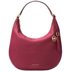 MICHAEL Michael Kors Lydia Large Hobo Leather Mulburry