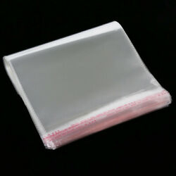 Clear Cellophane Cello Bags OPP Card Display Self Adhesive Peel And Seal Plastic