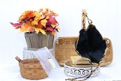 Longaberger Liners 4 Pcs Sm And Lg Fall Gourd Plus Sm And Lg Autumn Treats New J-81