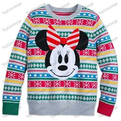Disney Store Christmas 2018 Sweater For Women Holiday Minnie Mouse Pick Size Nwt